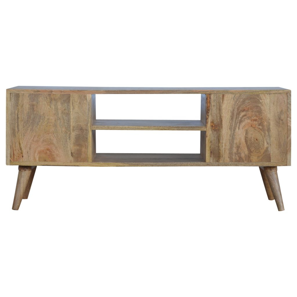 Nordic Chestnut Diamond Carved Console Table