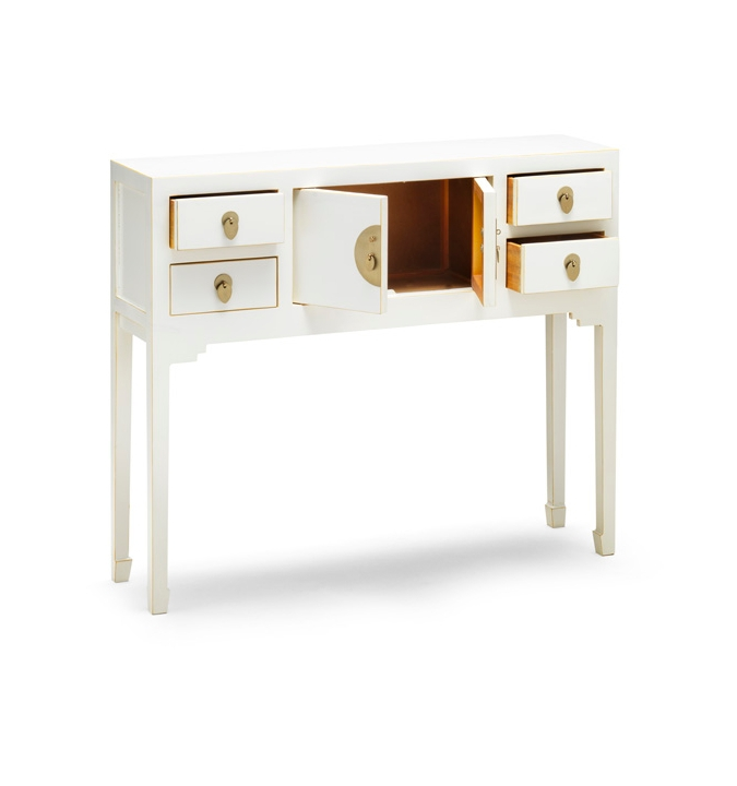 Nines Qing White Console Table