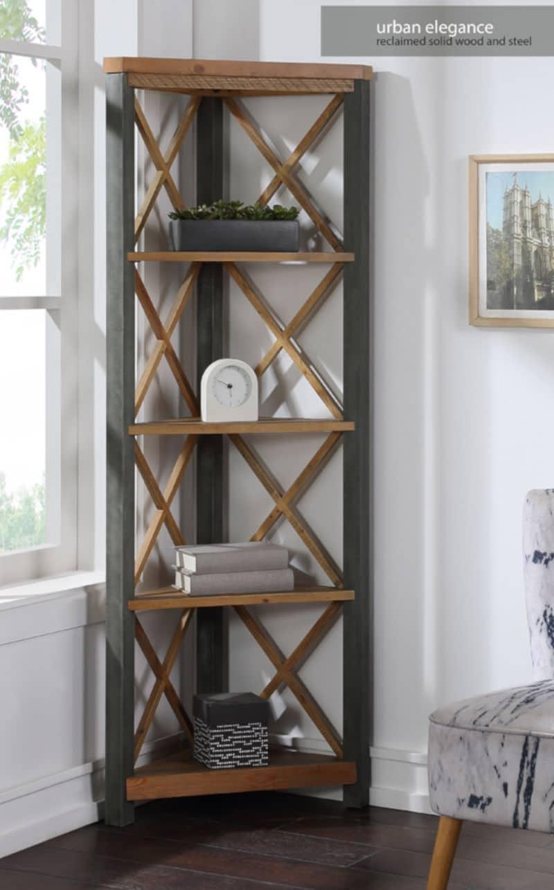 Elegance Large Corner Bookcase