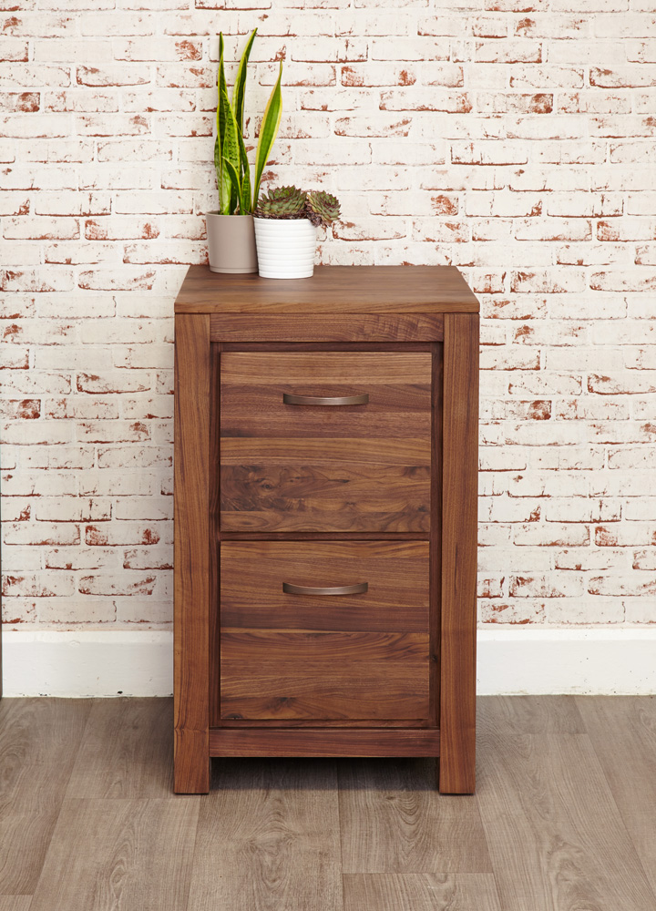 Nordic Writing Desk with Carved Prism Drawer Front