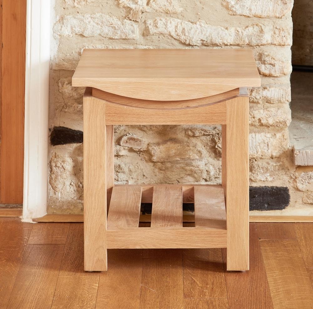 Roscoe Oak Lamp Table