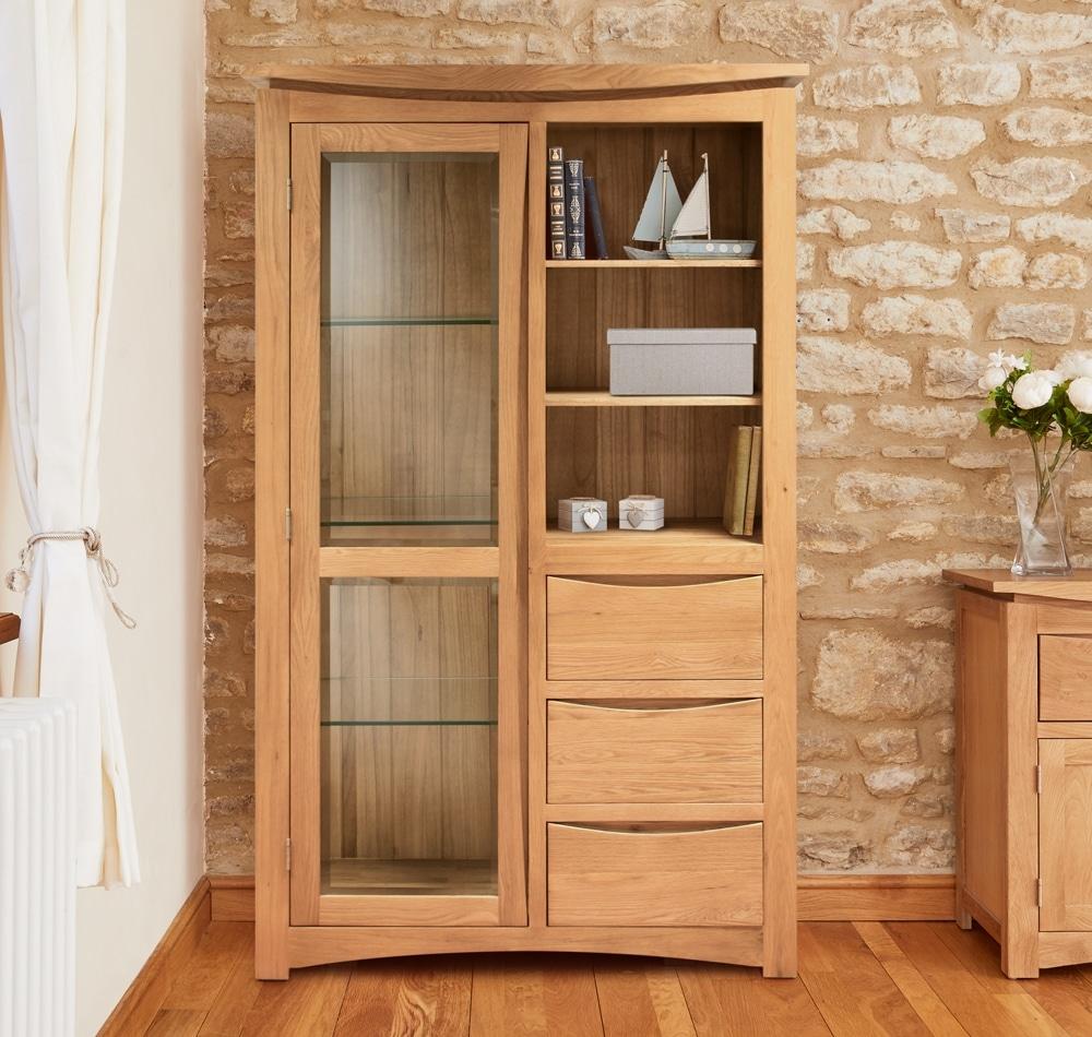 Roscoe Oak Glazed Display Cabinet