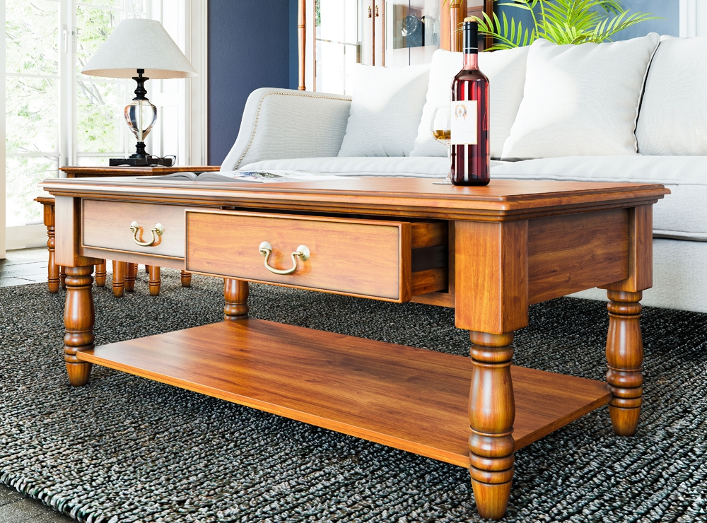 Reine Coffee Table with Drawers
