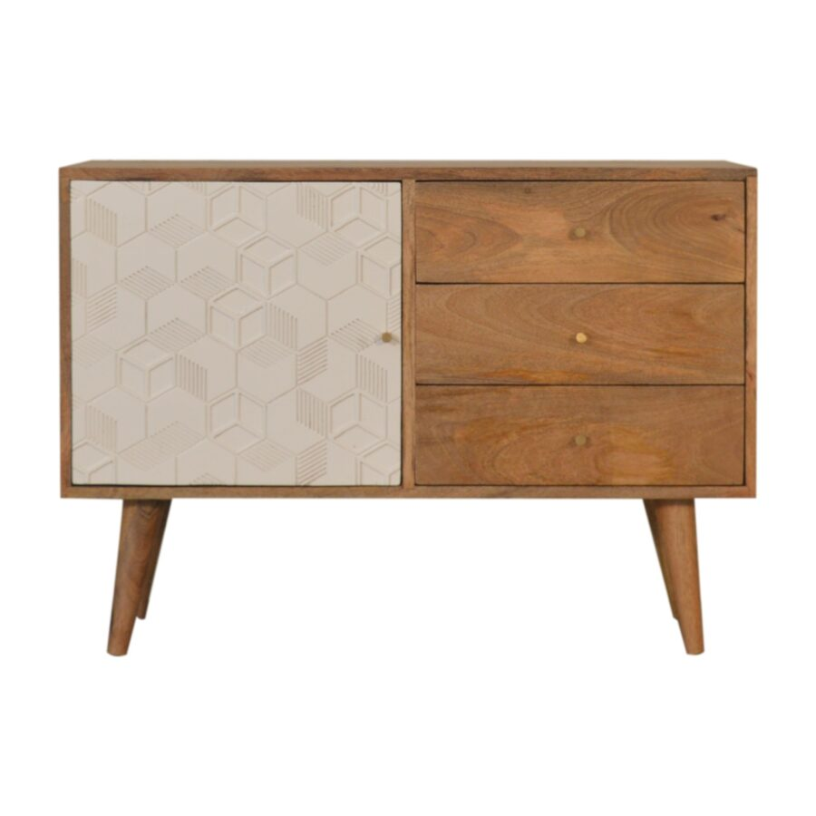 Nordic Writing Desk with 3 Drawers